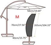 Parasolhoes voor zweefparasol - zweefarmparasol - 265 cm Premium Quality Zwart - diameter parasol 250/350 cm