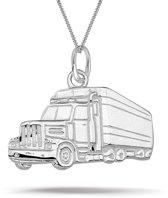 Montebello Ketting Truck - Heren - 925 Zilver - 20  x 18 mm - 50 cm