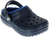 Crocs Clined Clog Slippers Kids Slippers - Maat 28/29 - Unisex - blauw