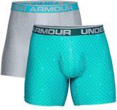 Under Armour Original 6in 2 Pack Novelty - Boxershort Heren - Tourmaline Teal