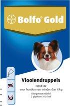 Bolfo Gold 40 Anti vlooienmiddel - Hond - 0 Tot 4 kg - 2 pipetten