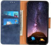 Shieldcase Wallet bookcase iPhone 11 Pro Max (blauw) +  Glazen Screenprotector