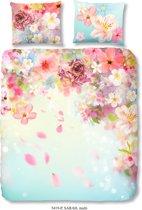 Good Morning 5419-P met bloemen - dekbedovertrek - lits jumeaux - 240x200/220 cm  - katoen - multi