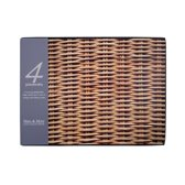 luxe Placemats - Rotan look - Set Van 4