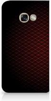 Samsung Galaxy A3 2017 Uniek Hoesje Geruit Rood