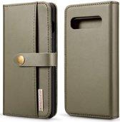 Samsung Galaxy S10 Plus 2-in-1 Bookcase en Back Cover Hoesje Groen