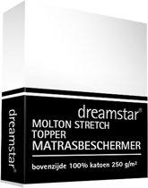 Dreamstar Hoeslaken Molton stretch Topper 160x200-180x200