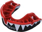 OPRO Platinum Bitje Zwart/Rood/Wit
