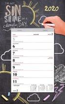 Week notititie (scheur)kalender 2020 - Krijtbord - 24 x 31 cm