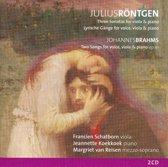 Rontgen: 3 Sonatas For Viola & Piano / Brahms: 2 songs for Voice, Viola & Piano