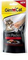 GimCat Nutri Pockets - Rund & Mout - Kattensnack - 60 g