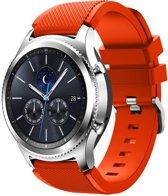 KELERINO. Siliconen bandje - Samsung Galaxy Watch (46mm)/Gear S3 - Oranje Rood
