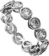 Diamonfire - Zilveren ring met steen Maat 17.5 - Kastzetting - 5 mm - Rondom gezet