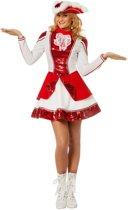 Dans & Entertainment Kostuum   Fancy Rood Witte Dansmarieke   Vrouw   Maat 40   Carnaval kostuum   Verkleedkleding