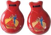 Spaanse castagnetten rood met Spaanse opdruk bij verkleed jurk