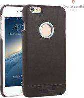 Pierre Cardin Backcover hoesje Bruin - Stijlvol - Leer - iPhone 6/6S  - Luxe cover
