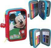Disney Mickey Mouse pennenzak dubbel gevuld