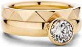 Schitterende set Melano ringen
