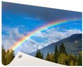 Kleurrijke regenboog over de lucht Tuinposter 120x80 cm - Tuindoek / Buitencanvas / Schilderijen voor buiten (tuin decoratie)