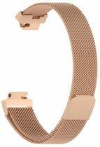 Fitbit Inspire (HR) Luxe Milanees bandje |Rose Gold / Rose Goud| Premium kwaliteit | Maat: S/M | RVS |TrendParts