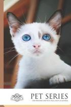 One Hundred and Fifty page lined Cat Journal: - White Kitten Blue Eyes - Cat Journal 150-page Lined notebook with individually numbered pages and Metr