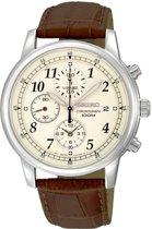 Seiko SNDC31P1 horloge heren - bruin - edelstaal