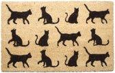 Deurmat 12 katten poezen