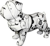 Engelse Buldog Big Max XL decoratief object | hond - zwart/wit | Pomme pidou