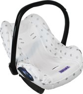 Dooky Seat Cover 0+ - White / Silver Stars