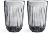 Kahler Design Hammershøi Drinkglazen - Set van 2 Stuks - Grijs