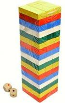 Blokjes toren gekleurd zeer verglijkbaar met het bekende spel