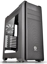 Thermaltake Versa C21 Mid Tower Case with Side Window and RGB Led - Black