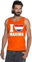 Oranje I love Maxima tanktop shirt/ singlet heren XL