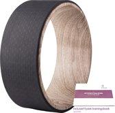 JAP Sports - Yoga wiel - 34 poses trainingboek - Pilates Wheel - Fitness Sport Roller - 33cm - Hout