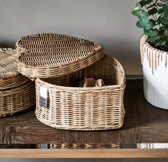 Riviera Maison Rustic Rattan Happy Heart Basket High