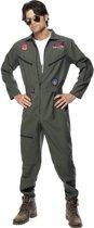 Top Gun overal & zonnebril - Piloten kostuum heren - Maat M - 48-50
