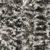 Kattenstaart - Vliegengordijn - Horgordijn - 90cm x 220cm - Zwart/Wit
