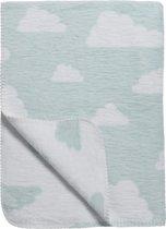 Meyco Little Clouds ledikantdeken - 120 x 150 cm - lichtblauw