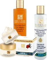 Facial care - Sea buckthorn - Normal to dry skin - Set of 4
