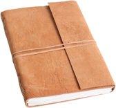 Raw Materials  Natural Notitieboek – 19x27cm – Licht bruin - Leer