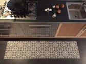 JYG Vloerkleed - Keukenloper Retrolux Brussel 150x350 - Grijs