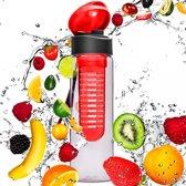 #DoYourFitness - Fruitwater fles - »FruitExplosion« - Fruit infuser voor fruitpunches / groente spritzers - 700ml - Rood