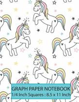 Graph Paper Notebook 1/4 inch squares