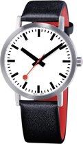 Mondaine Classic A660.30360.16OM Horloge - Leer - Zwart - Ø40 mm