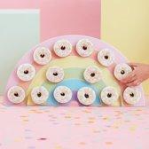 Donutwall regenboog - 14 donuts