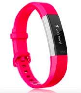 YONO Siliconen bandje - Fitbit Alta (HR) – Roze - Large