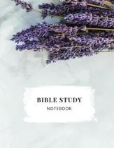 Bible Study Notebook: Christian Women's Bible Study Journal with Lavender on a Marble Background - Daily Scripture Study, Prayer, and Praise