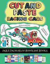Preschool Worksheets (Cut and paste - Racing Cars)