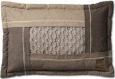 Knitfactory Trix - Sierkussen - 40x60 cm - Beige Melee