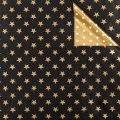 Toonbankrol.nl - Cadeaupapier op rol - Kerst Sterren & Dots 2-zijdig - Rol 50cm - 250m - 80gr